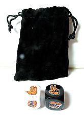 Loot Crate Exclusive Rock Paper Scissors Dice Game w Velvet Bag NEW