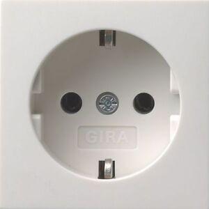 gira system 55 abdeckung steckdose ohne unterteil reinwei gl nzend 092003 ebay. Black Bedroom Furniture Sets. Home Design Ideas