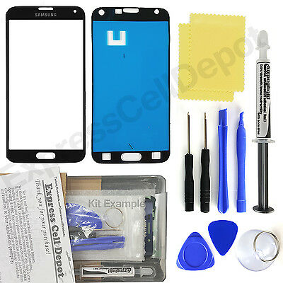 Black Samsung Galaxy S5 G900/906 Front Glass Screen Replacement Repair Kit
