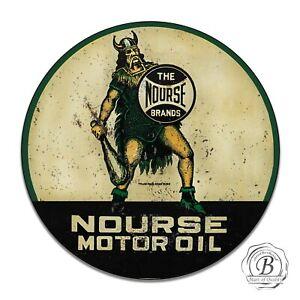 "Nourse Norse Viking Motor Oil Gasoline Retro Metal Tin Sign Plaque 12/"" NEW"