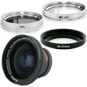 Bower 30mm 0.38x Wide Fisheye Lens Filters for Sony DCR DVD610 DVD505 DVD405 NEW