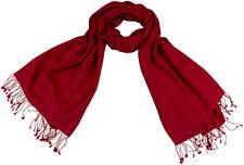 Pashmina Stola Hibiskus Rot Schal 70% Cashmere 30% Seide, silk stole 71x198 cm