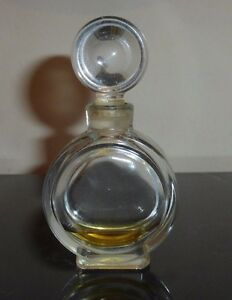 Vintage Perfume Bottle with Round Glass