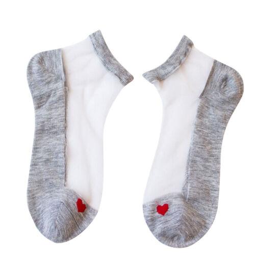 Fashion Casual Ultrathin Transparent Beautiful Crystal Lace Elastic Short Socks