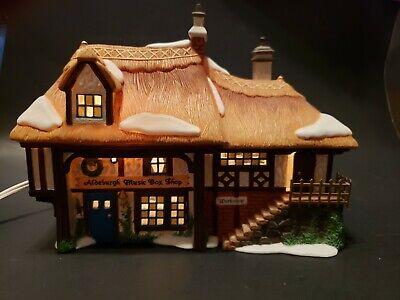 Department 56 Aldeburgh Music Box Shop Dickens Village Gift Set #58441