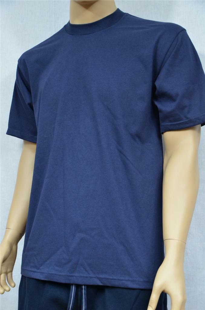 6 NEW PROCLUB S-5XLT HEAVY WEIGHT T-SHIRTS NAVY blueE PLAIN TEE PRO CLUB BLANK