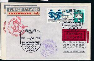97534) Rda Coursier Lettre If Olympiades Sf Berlin-séoul 9.9.88-afficher Le Titre D'origine Soulager La Chaleur Et La Soif.