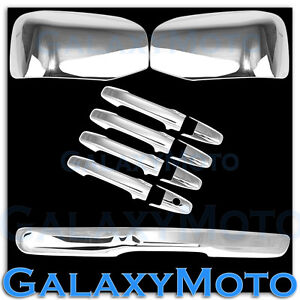 KH no CM Cover 09-12 Ram Chrome Mirror w//Light hole+4 Door Handle+Tailgate w
