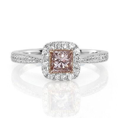 Uhren & Schmuck Brautschmuck Echter 0,71 Karat Natürlich Schicke Rosa Diamanten Verlobungsring Niedriger Preis