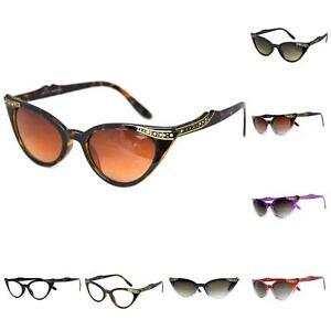 09b125d308 Retro 50s 60s Style Cats Eye Diamante Sunglasses Rockabilly Pin Up ...