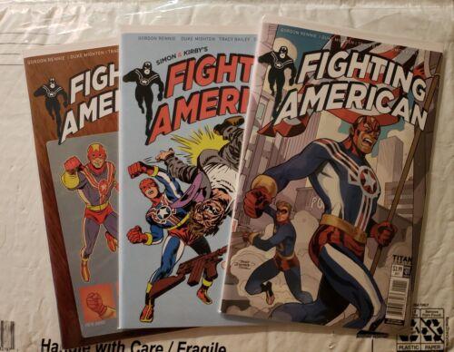 Fighting American 1A C E 2017 NM 3 book lot Titan