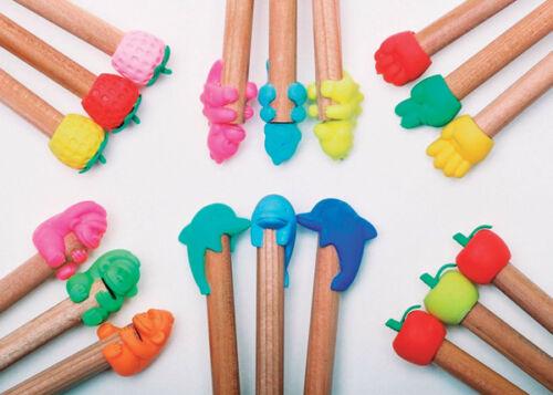 Iwako Japanese Mini Pencil Topper Eraser Rubber Fruit Hand Dino Gorilla Dolphin