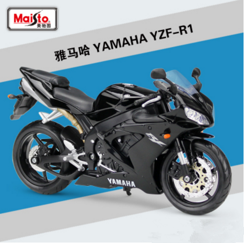Maisto 1 12 Yamaha Yzf R1 Motorcycle Bike Model Black New In Box