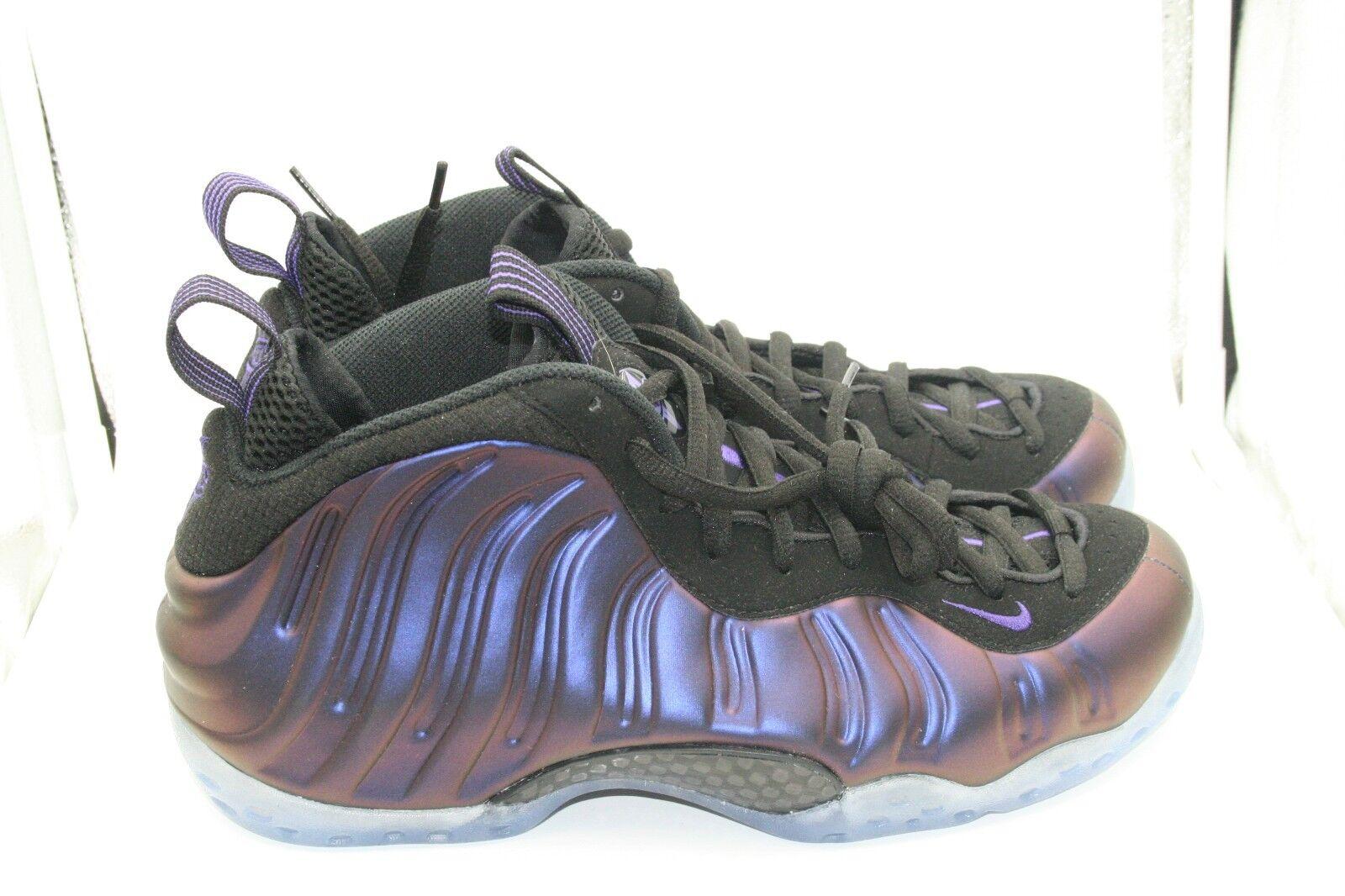 Nike Foamposite One Eggplant DS Sz 9 W Receipt Black Varsity Purple Penny