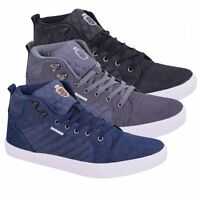 New Mens Twisted Faith Quilted High Top Trainers Casual Shoes Boots Sneakers