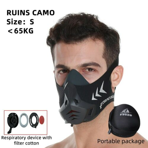 máscara de alta altitud entrenamiento filtro de aire Running máscara deportiva