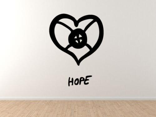 Hope Heart African Sign Symbology Vinyl Wall Decal Art Adinkra Akan #2
