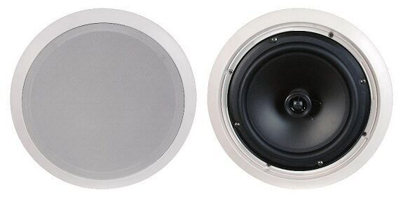 CLOSEOUT  FLUSH MOUNT IN CEILING SPEAKERS PAIR 6.5  2-WAY HOME THEATER SURROUND