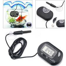 Aquarium Digital Thermometer Fish Tank Salt Water Terrarium Temperature Monitor