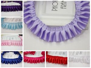 5-Meters-Ruffle-Pleated-Satin-Ribbon-Trim-40mm-Sewing-Wedding-Craft-Colour-Choic