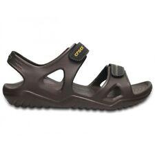 5433cadfea95 Crocs SWIFTWATER RIVER SANDAL Mens Summer Croslite Sports Sandals Espresso  Black