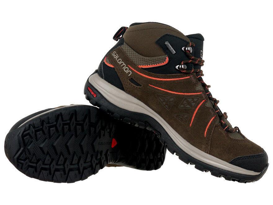 Salomon Ellipse 2 Mid Leather Gore-Tex Damen-Wanderschuhe Outdoor Hiking-Schuhe