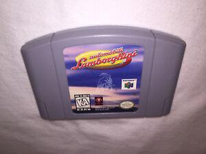 Automobili-Lamborghini-Nintendo-N64-Game-Cartridge-Excellent