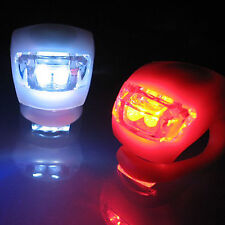 New Waterproof Silicon Bike Frog Light Set 2LED Front + 2LED Rear Safety Light