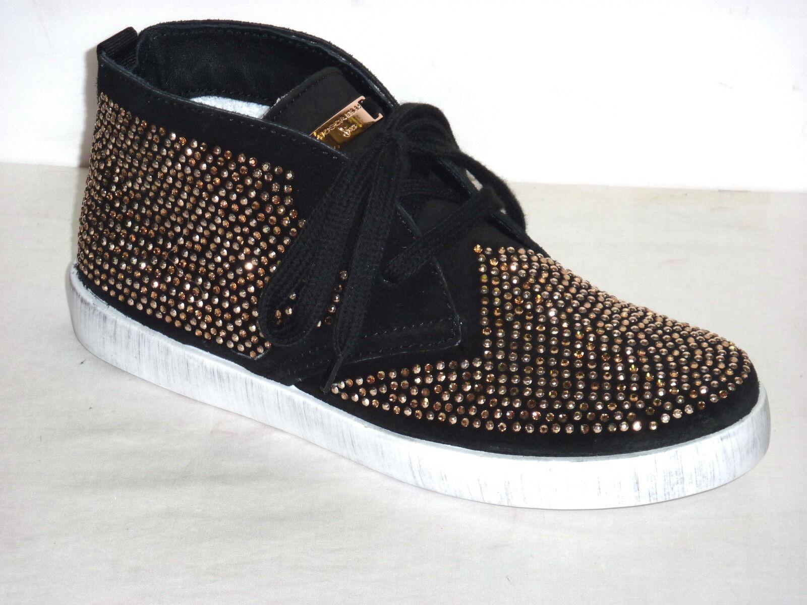 Zapatos promocionales para hombres y mujeres TOSCA AZUL ZAPATILLAS TENIS MUJER Zapatillas deportivas PIEL NOBUCK NEGRO STRASS