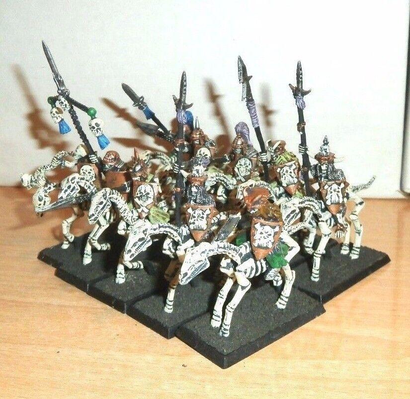 Warhammer Fantasy 10 METAL Undead Mounted Skeletons with Lances SIGMAR 1990s