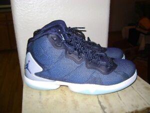 e90e1540e821 Nike Jordan Super Fly 4 BG Midnight Navy Blue Ice SZ 5.5 Y YOUTH ...
