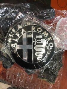 2x-Stemma-ALFA-ROMEO-147-156-159-166-MITO-GIULIETTA-Logo-Fregio-nero-Black