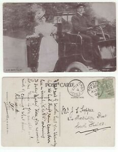 Great-Britain-KEV11-1906-B-w-photo-of-car-postcard-from-CASTLESIDE-CONSETT-etc