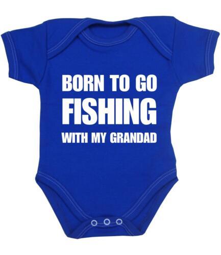 Babyprem vêtements bébé né de pêche avec grand-père body gilet slogan baby shower