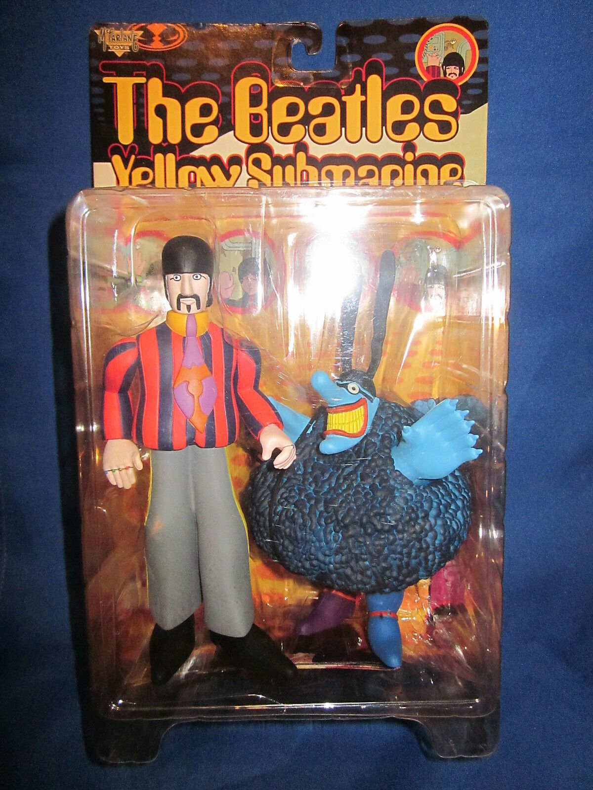 1999 McFarlane Toys The Beatles Gelb Submarine Ringo and Blau Meanie