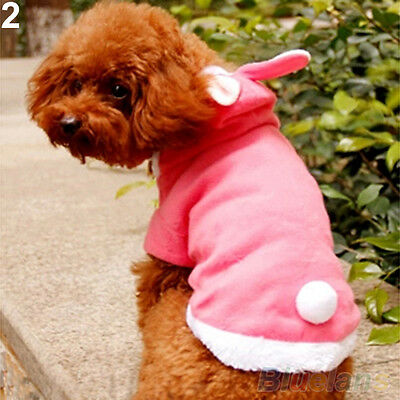 NW Pet Dog Cat Cute Bunny Warm Clothes Autumn Winter Puppy Costumes Apparel Coat