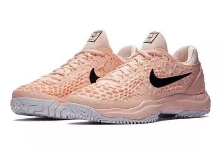 NEW Sz 6 Women's Nike Air Zoom Cage 3 HC Tennis shoes Crimson Tint 918199-801
