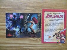 2009 DYNAMIC FORCES, DF 35 YEARS OF RED SONJA CARD SIGNED BY JOE JUSKO, WITH POA