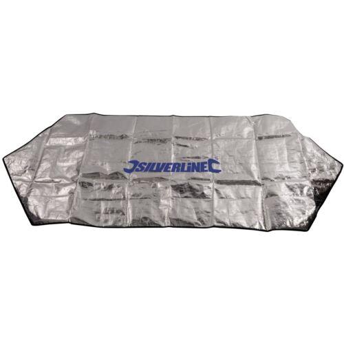 Silverline Lámina Parabrisas Protector De Invierno Nieve Helada Parasol Coche Furgoneta Cubierta