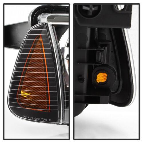 Black 2006-2010 Dodge Charger Headlights Headlamp W//Corner Lights 06 07 08 09 10