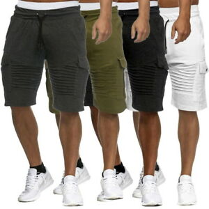 Mens-039-Sweatpants-Casual-Shorts-Mid-Waist-Workout-Joggers-Fitness-Shorts-Pants