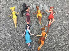 Disney Fairies 6pcs Tinkerbell Vidia Rosetta Klara Emily Figures Bullyland Loose
