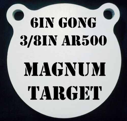 environ 15.24 cm 3//8 THK Fusil Cible AR500 Gong Shooting Target Steel Target Set 1pc 6 in