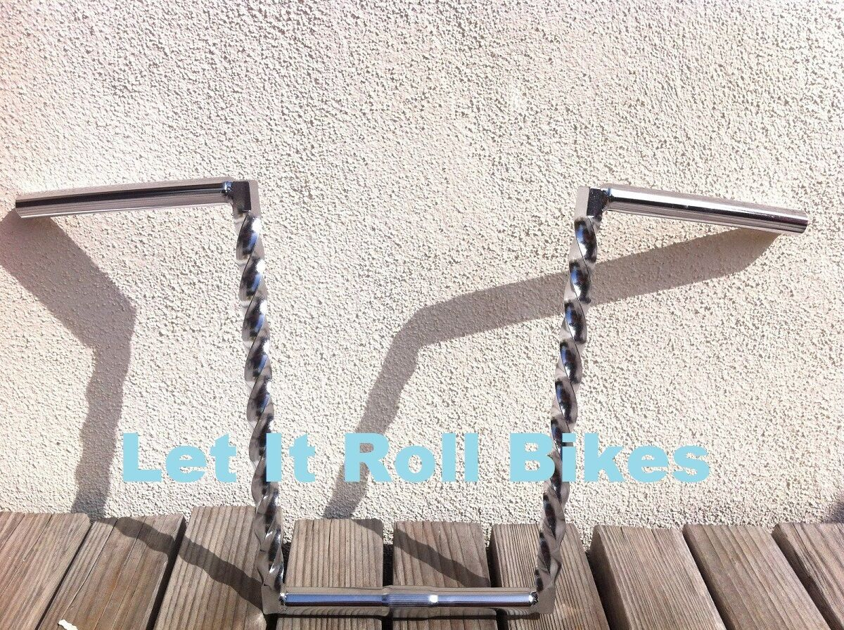 BICYCLE HANDLEBAR 14  SQUARE  TWISTED CHROME CRUISER LOWRIDER CYCLING BIKES  save up to 70%