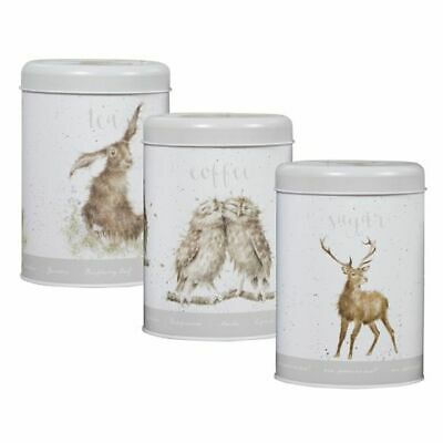 Coffee And Sugar Canisters Pure Whiteness Tea Wrendale Designs