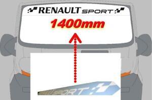 pare-soleil-Renault-sport-Clio-Megane-Twingo-Sticker-Trophy-cup-rsgt-1400x100mm
