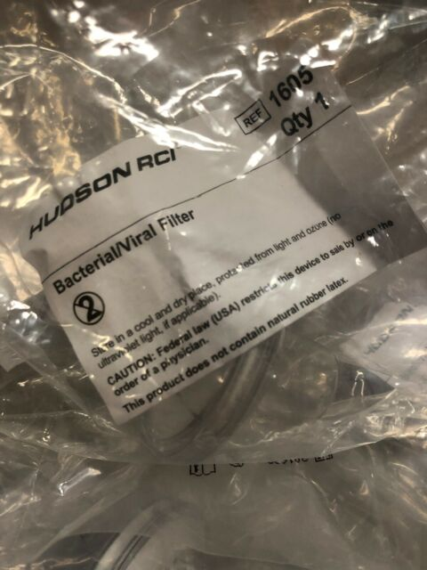 HUDSON RCI REF 1605 BACTERIAL/VIRAL FILTER 99.99% 42ML DS TRAINING MD