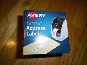 new avery label printer labels 1 1 8 x 3 1 2 260 labels 4150