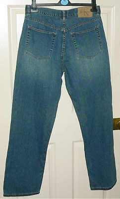 Analitico Vintage Calvin Klein Jeans Gamba Dritta Di Marca Misura 34-mostra Il Titolo Originale