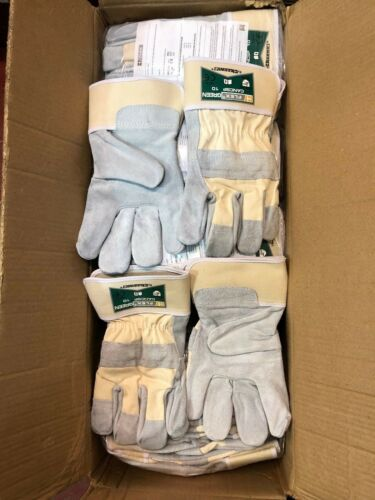 Pack Of 10 B-Flex Top Quality Canadian Heavy Duty Leather Rigger Gloves Cream